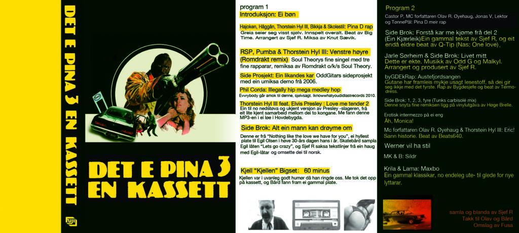 Det e pina 3 en kassett Coverbilde